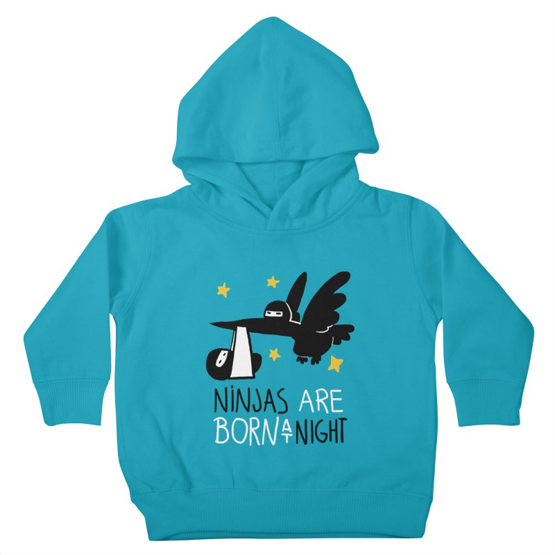 Ninjas are born at night Kids Toddler Pullover Hoody by The Art of Anna-Maria Jung