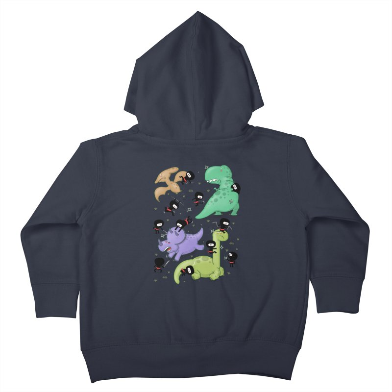 Ninjas vs Dinosaurs Kids Toddler Zip-Up Hoody by The Art of Anna-Maria Jung
