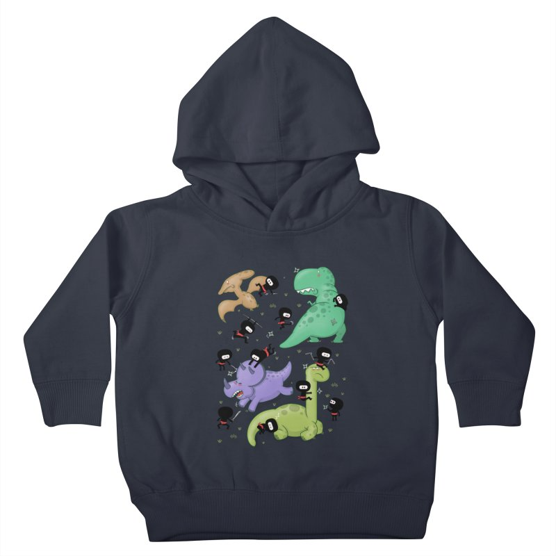 Ninjas vs Dinosaurs Kids Toddler Pullover Hoody by The Art of Anna-Maria Jung