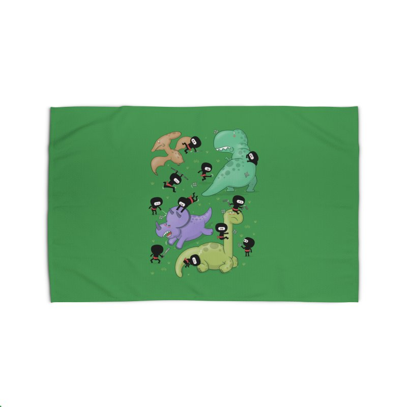 Ninjas vs Dinosaurs Home Rug by The Art of Anna-Maria Jung