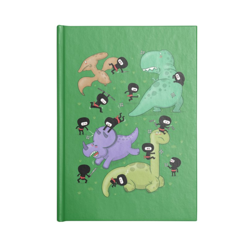 Ninjas vs Dinosaurs Accessories Notebook by The Art of Anna-Maria Jung