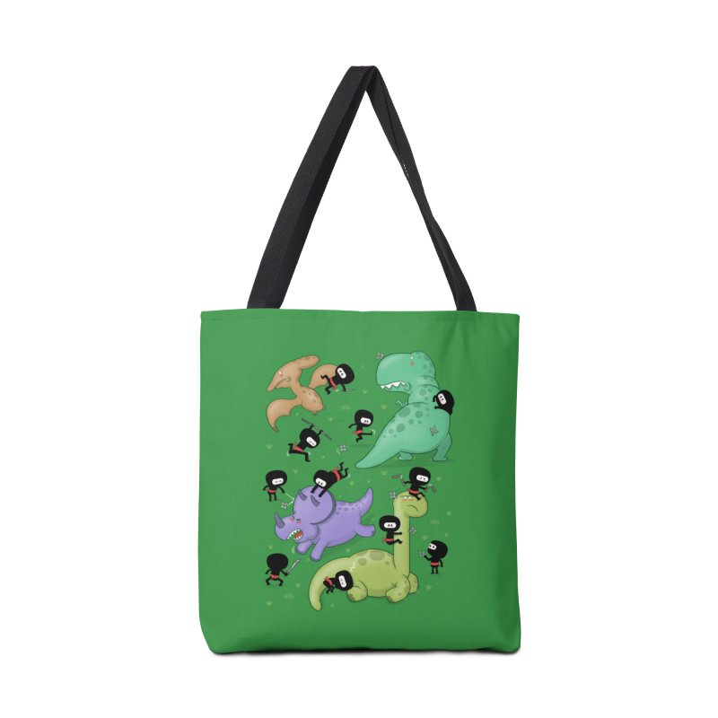 Ninjas vs Dinosaurs Accessories Bag by The Art of Anna-Maria Jung