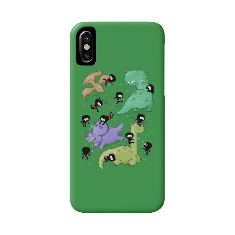 Ninjas vs Dinosaurs Accessories Phone Case by The Art of Anna-Maria Jung