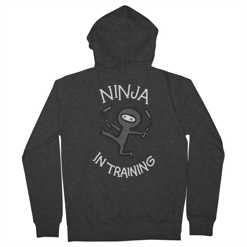 Ninja In Training Men's Zip-Up Hoody by The Art of Anna-Maria Jung