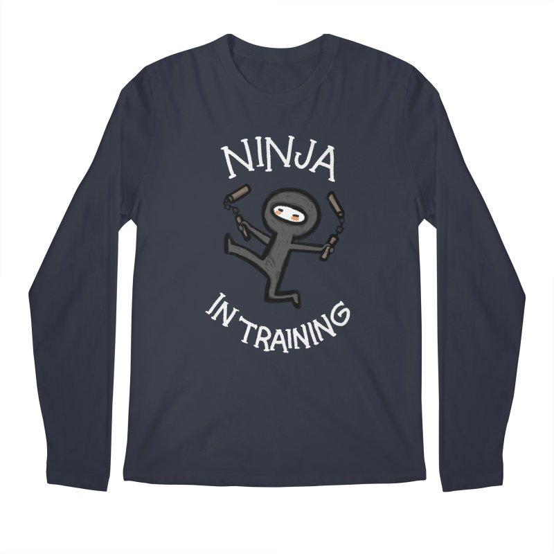 Ninja In Training Men's Regular Longsleeve T-Shirt by The Art of Anna-Maria Jung