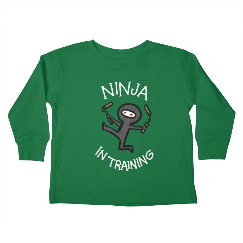 Ninja In Training Kids Toddler Longsleeve T-Shirt by The Art of Anna-Maria Jung