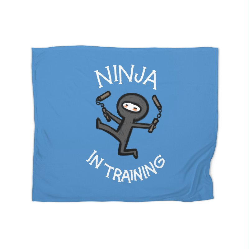 Ninja In Training Home Blanket by The Art of Anna-Maria Jung