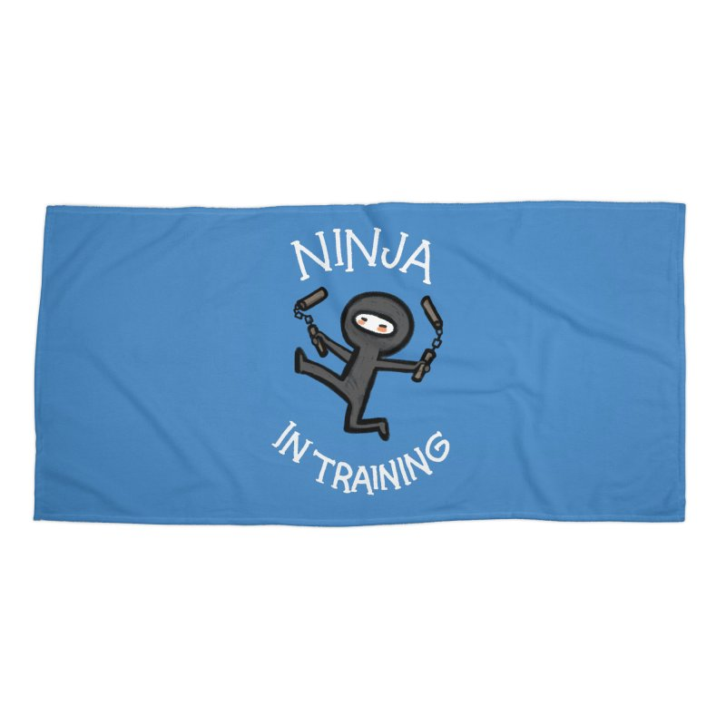 Ninja In Training Accessories Beach Towel by The Art of Anna-Maria Jung
