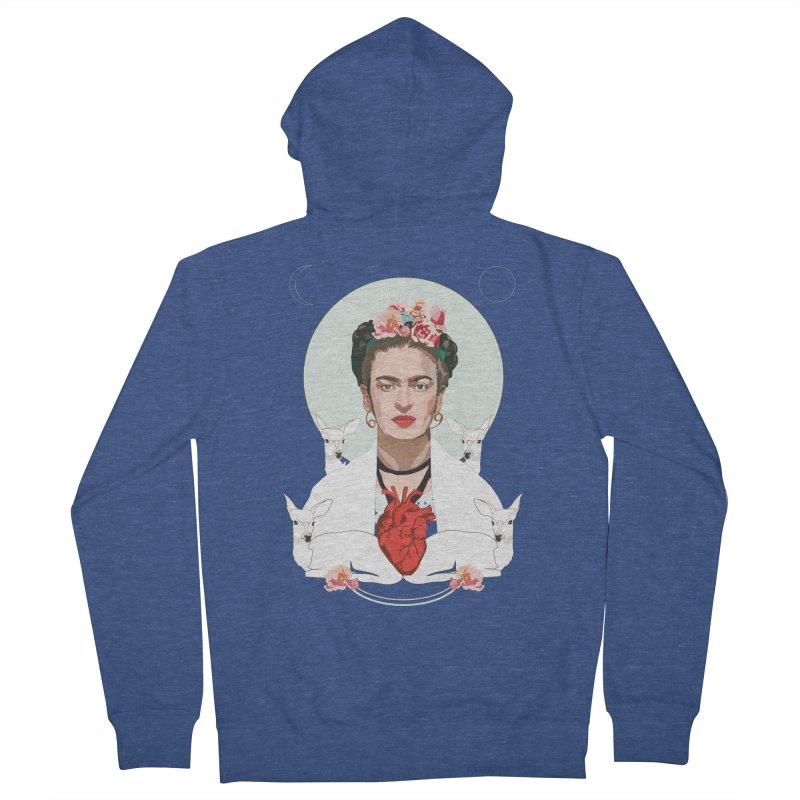 Frida Kahlo (Light) Women's Zip-Up Hoody by Anna McKay's Artist Shop