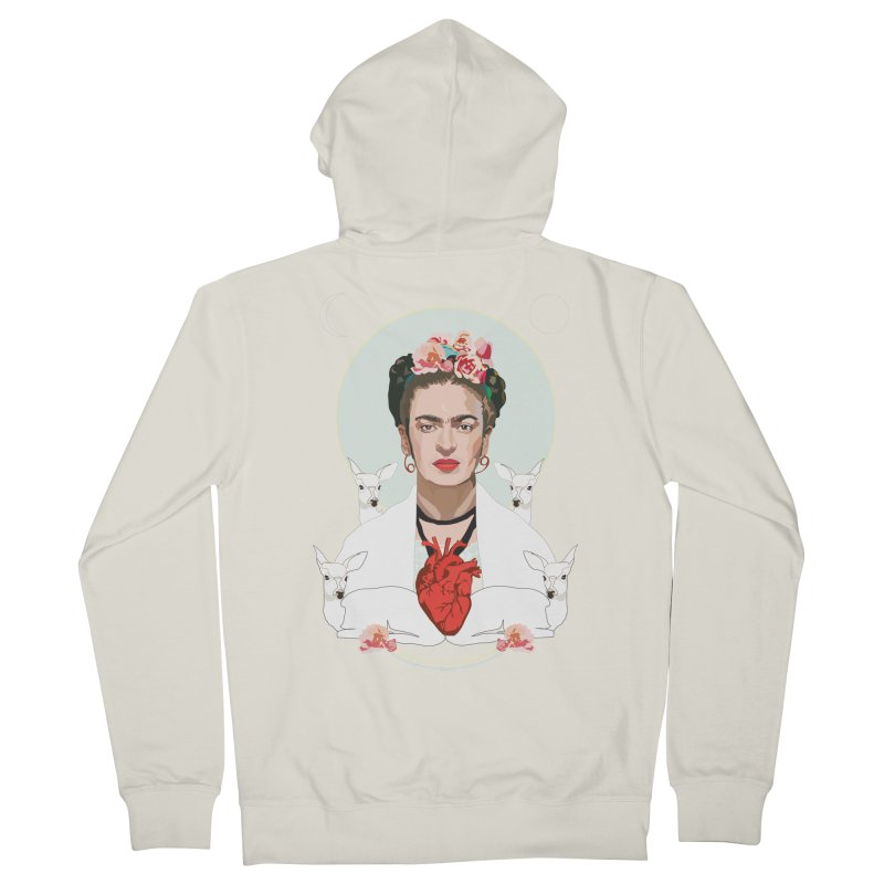 Frida Kahlo (Light) Women's Zip-Up Hoody by Anna McKay's Artist Shop