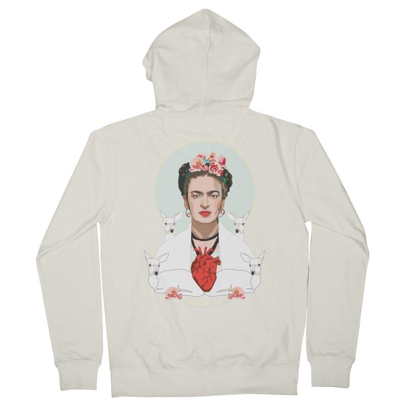 Frida Kahlo (Light) Men's Zip-Up Hoody by Anna McKay's Artist Shop