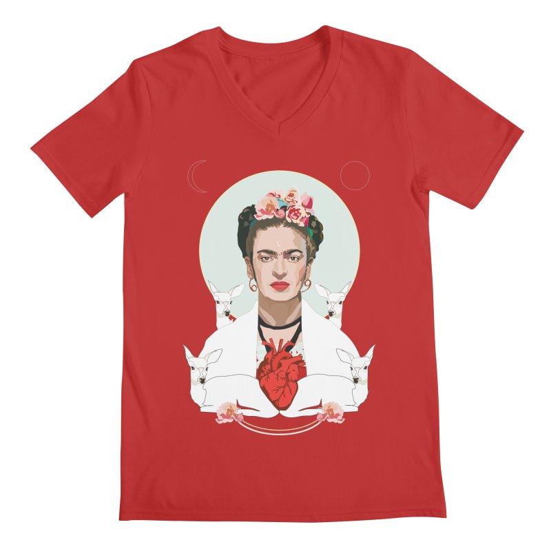 Frida Kahlo (Light) Men's V-Neck by Anna McKay's Artist Shop