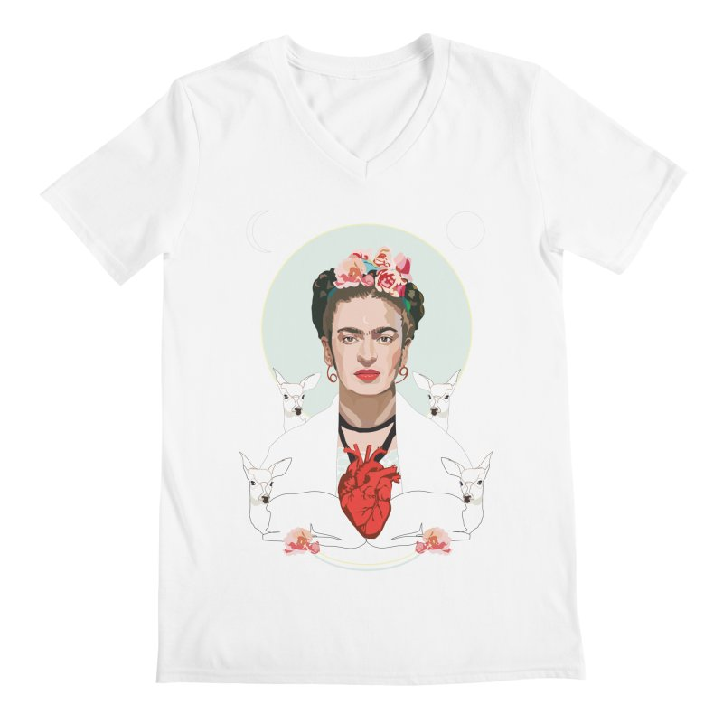 Frida Kahlo (Light) Men's V-Neck by Anna McKay's Artist Shop