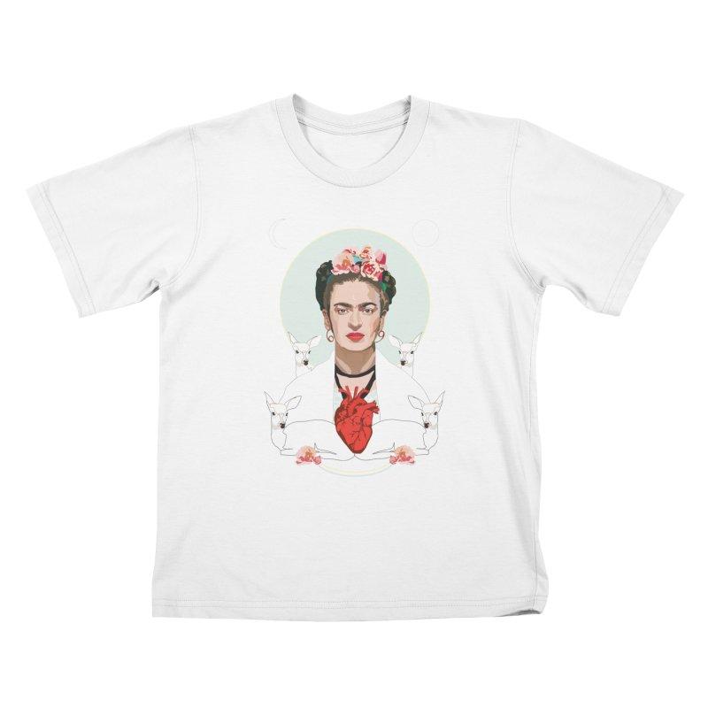 Frida Kahlo (Light) Kids T-shirt by Anna McKay's Artist Shop