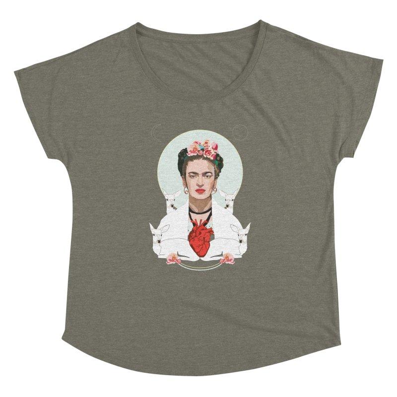 Frida Kahlo (Light) Women's Dolman by Anna McKay's Artist Shop