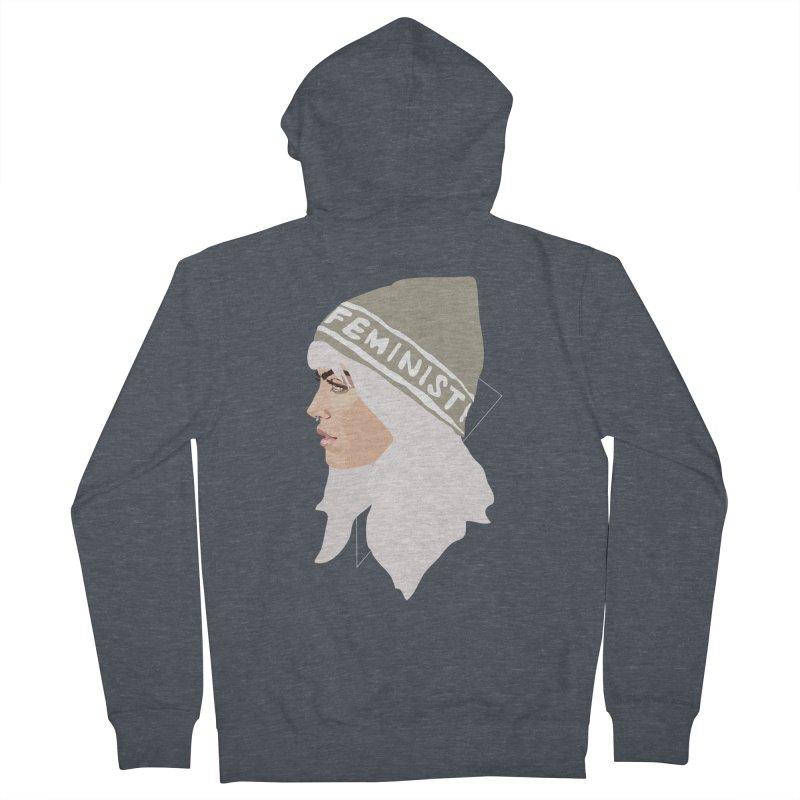 Feminist (Silver) Women's Zip-Up Hoody by Anna McKay's Artist Shop
