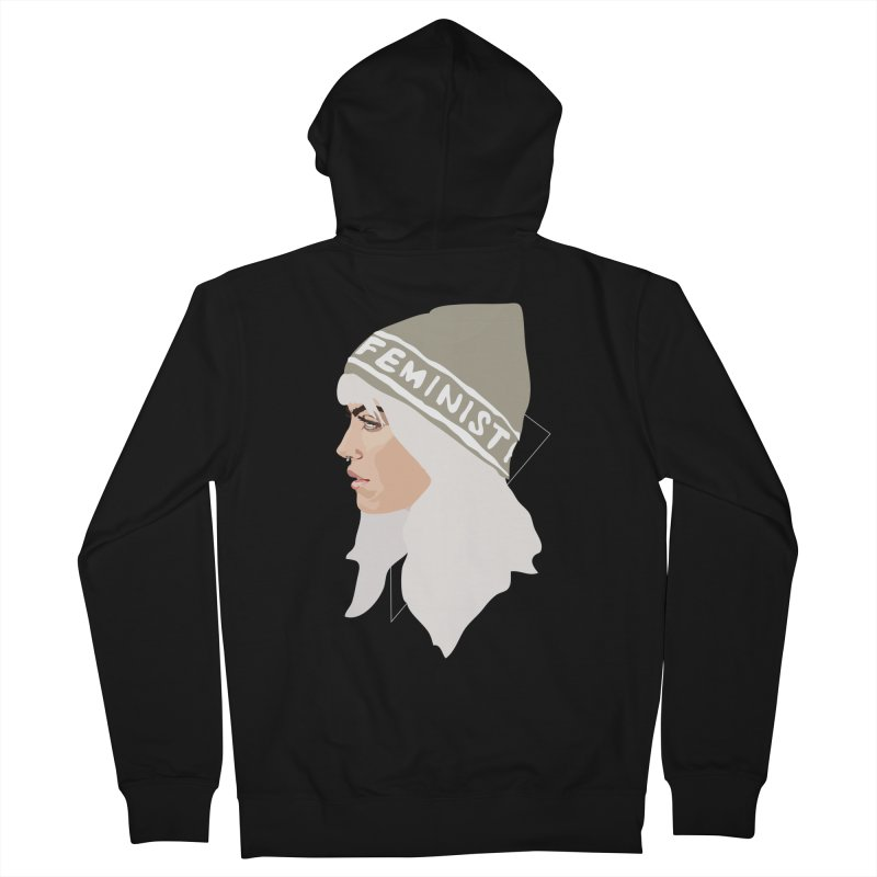 Feminist (Silver) Women's Zip-Up Hoody by Anna McKay's Artist Shop
