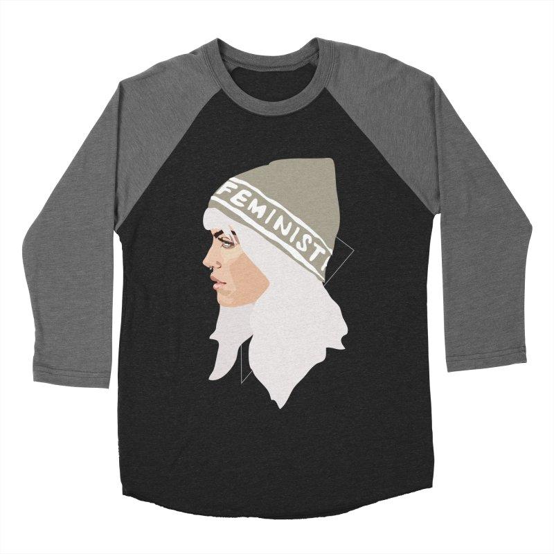 Feminist (Silver) Women's Baseball Triblend T-Shirt by Anna McKay's Artist Shop