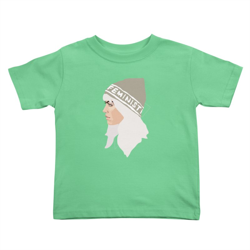 Feminist (Silver) Kids Toddler T-Shirt by Anna McKay's Artist Shop