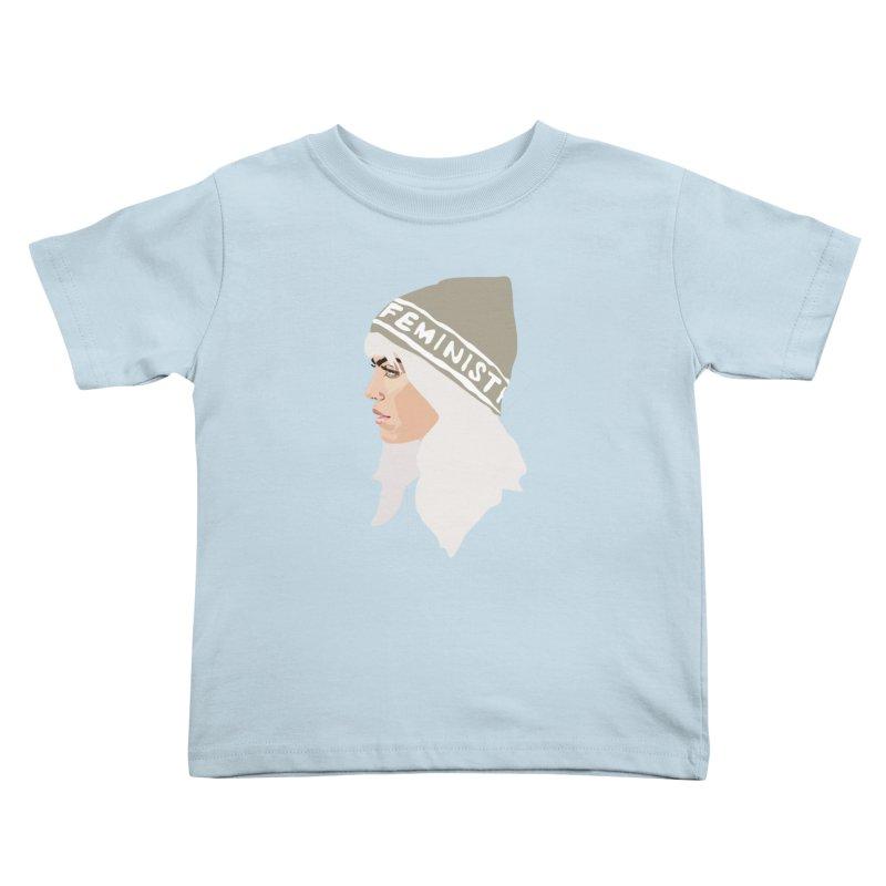 Feminist (Silver) Kids Toddler T-Shirt by Anna McKay's Artist Shop
