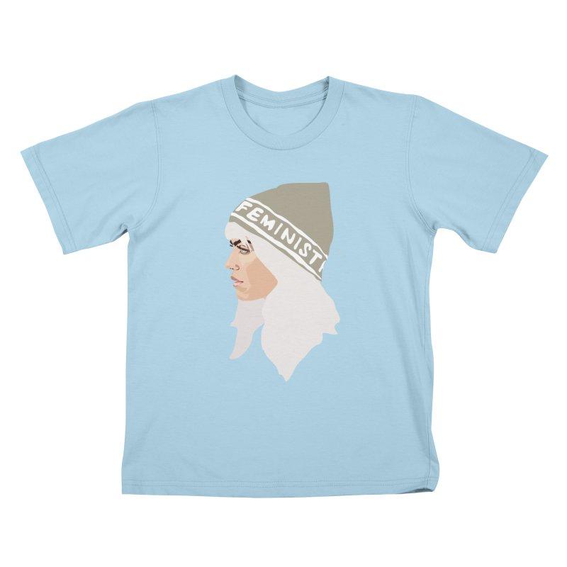 Feminist (Silver) Kids T-shirt by Anna McKay's Artist Shop