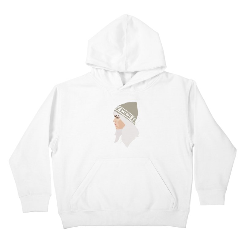 Feminist (Silver) Kids Pullover Hoody by Anna McKay's Artist Shop