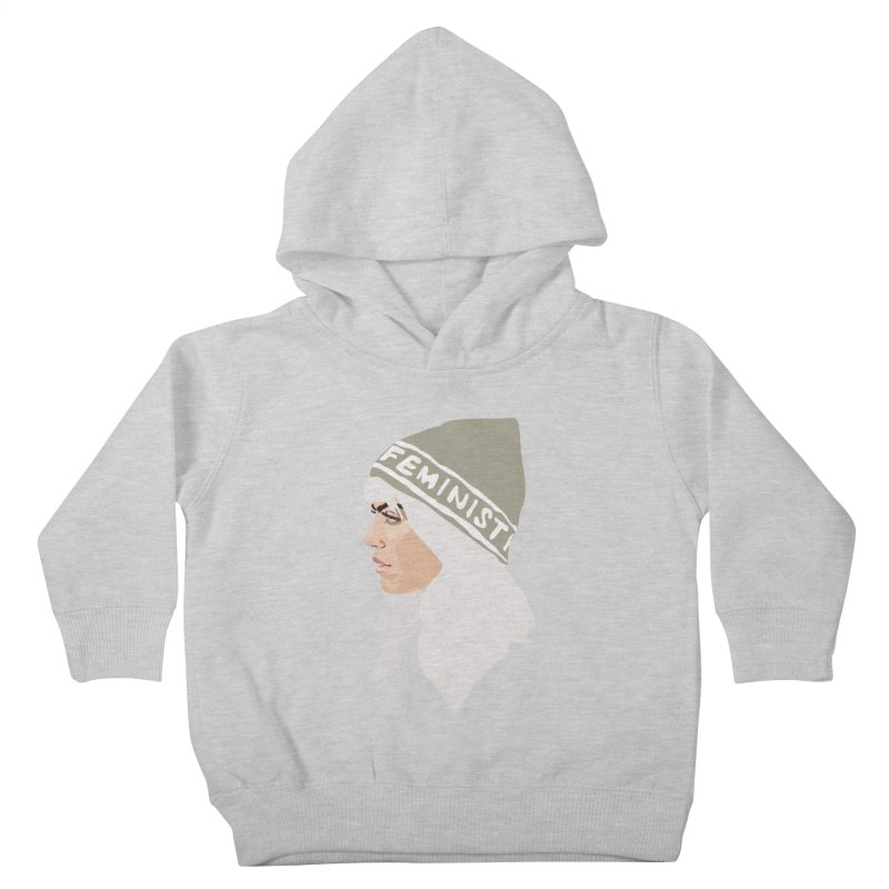 Feminist (Silver) Kids Toddler Pullover Hoody by Anna McKay's Artist Shop