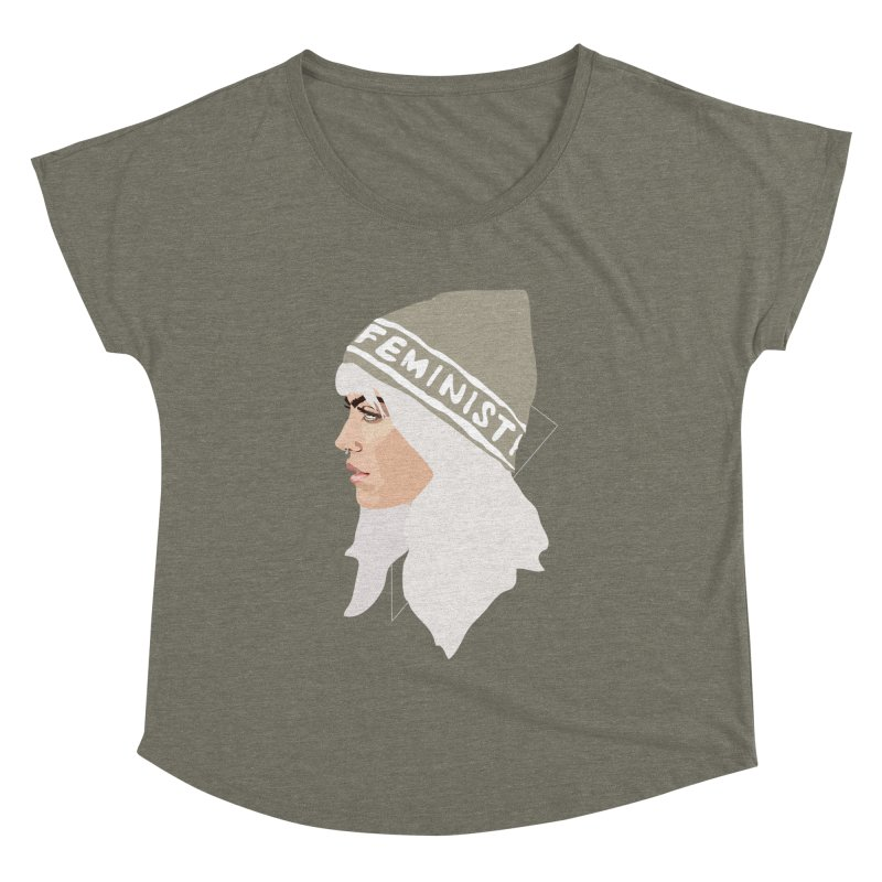 Feminist (Silver) Women's Dolman by Anna McKay's Artist Shop