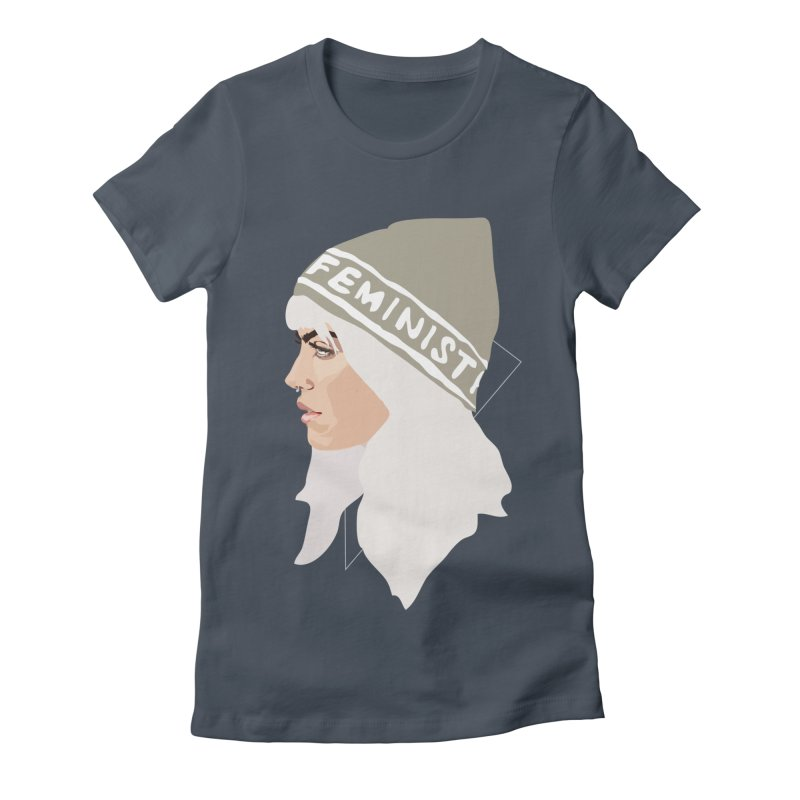 Feminist (Silver) Women's Fitted T-Shirt by Anna McKay's Artist Shop