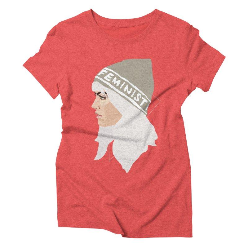 Feminist (Silver) Women's Triblend T-shirt by Anna McKay's Artist Shop