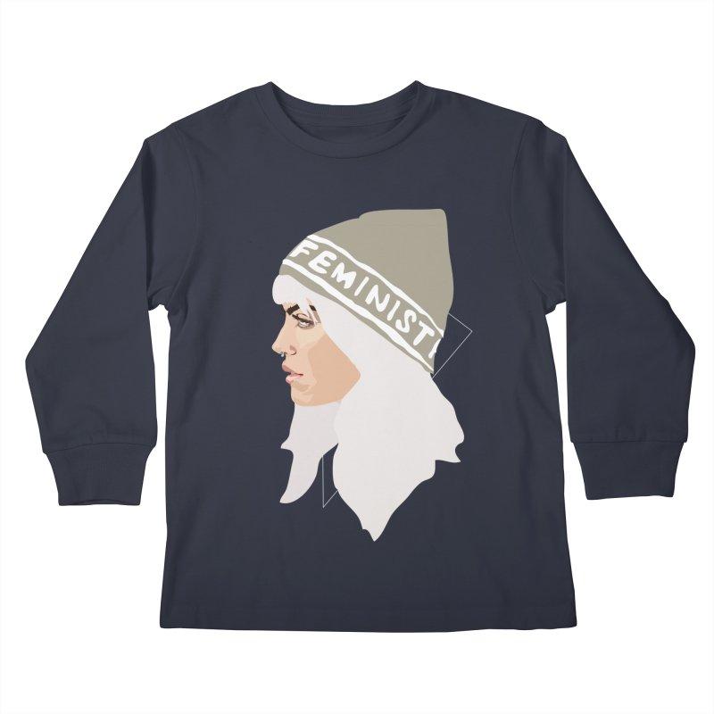 Feminist (Silver) Kids Longsleeve T-Shirt by Anna McKay's Artist Shop