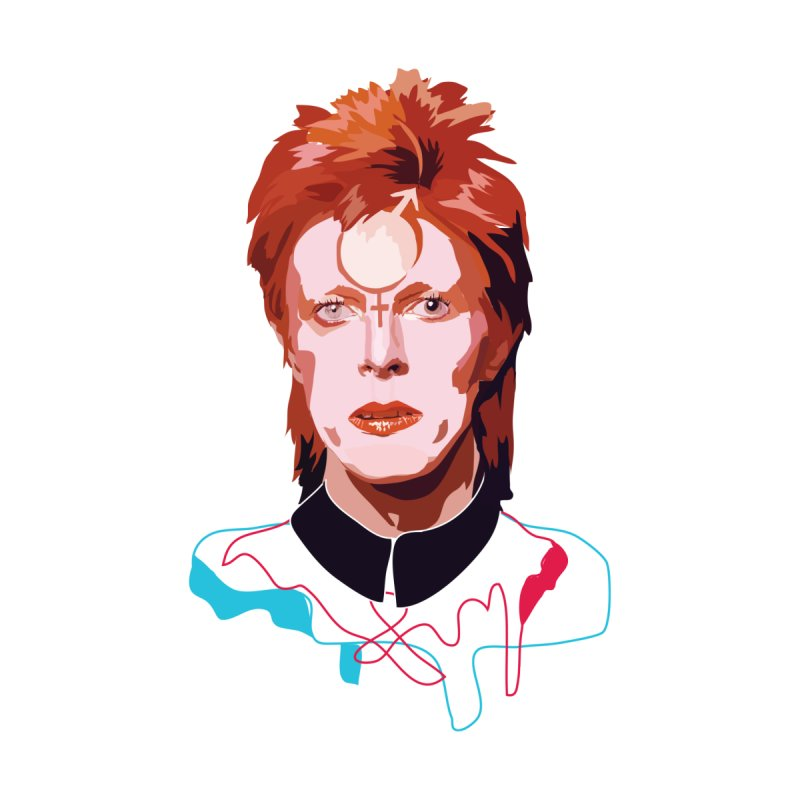 Bowie None  by Anna McKay's Artist Shop