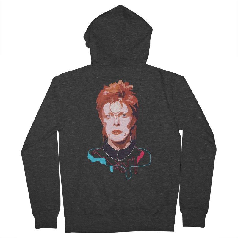 Bowie Men's Zip-Up Hoody by Anna McKay's Artist Shop