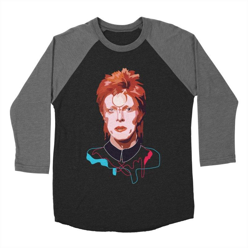 Bowie Men's Baseball Triblend T-Shirt by Anna McKay's Artist Shop