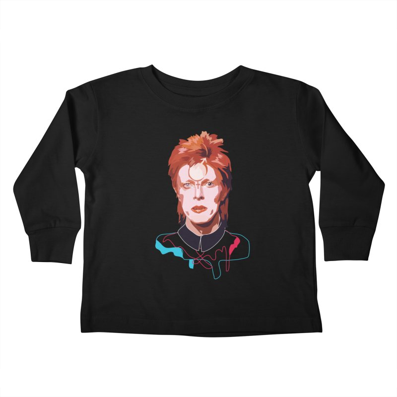 Bowie Kids Toddler Longsleeve T-Shirt by Anna McKay's Artist Shop