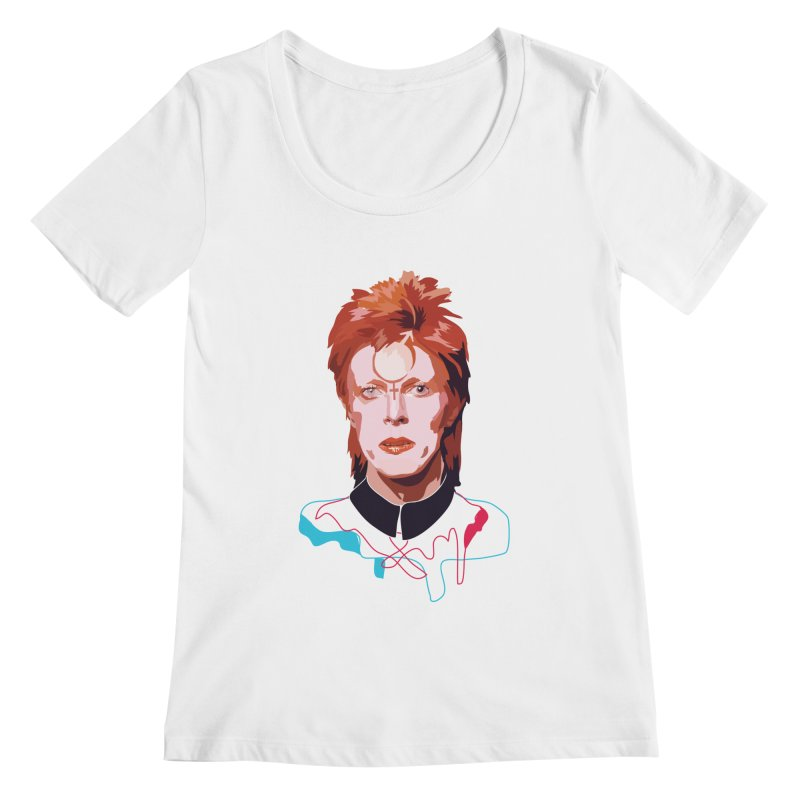 Bowie Women's Scoopneck by Anna McKay's Artist Shop