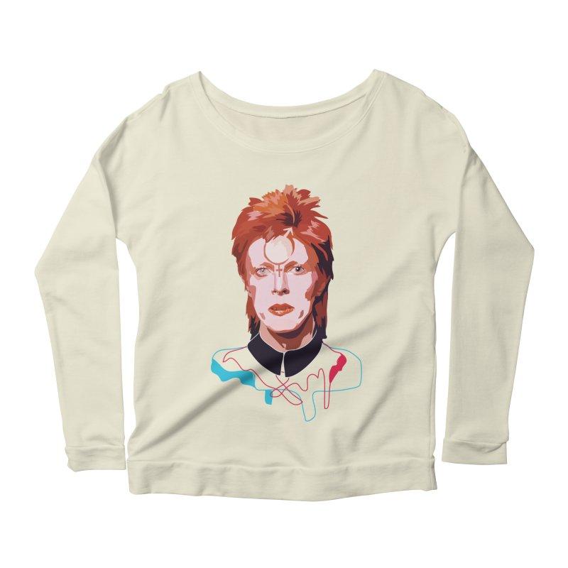 Bowie Women's Longsleeve Scoopneck  by Anna McKay's Artist Shop