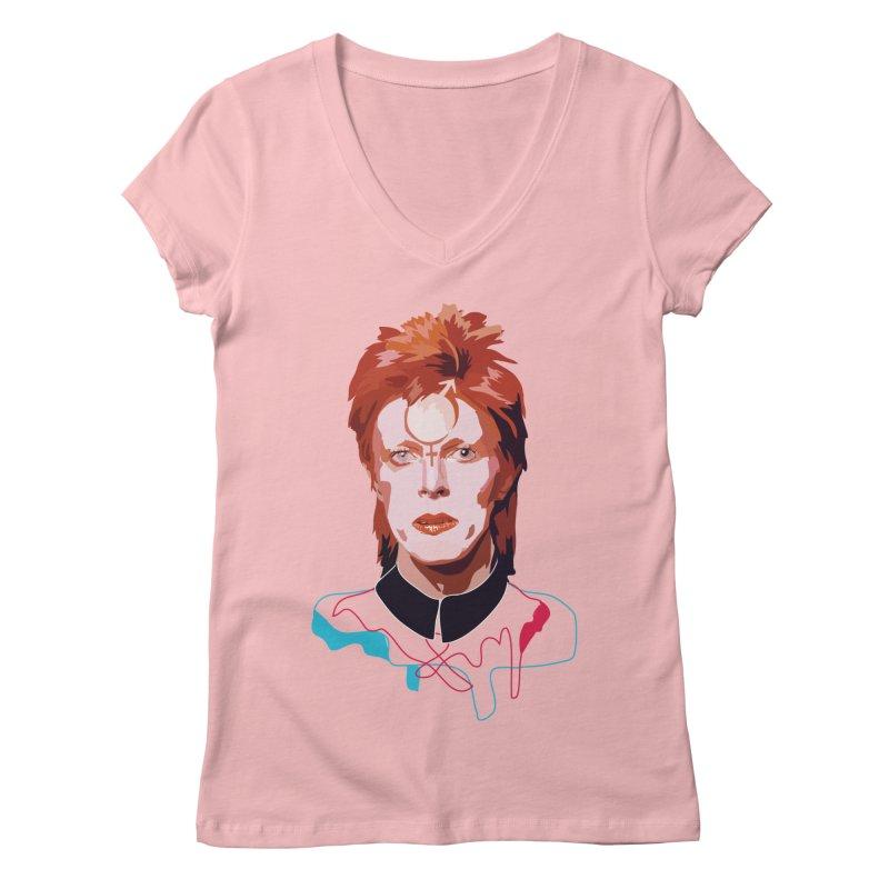 Bowie Women's V-Neck by Anna McKay's Artist Shop