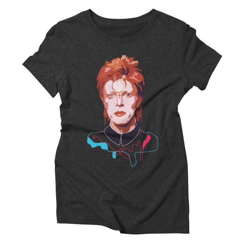 Bowie Women's Triblend T-shirt by Anna McKay's Artist Shop