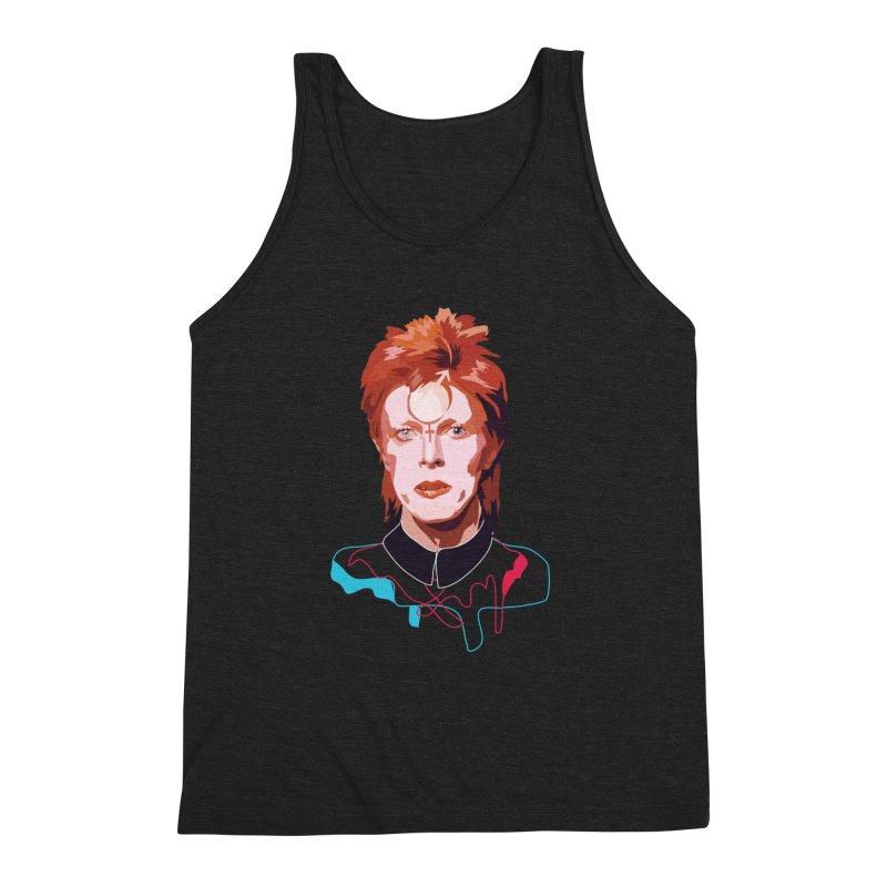 Bowie Men's Triblend Tank by Anna McKay's Artist Shop
