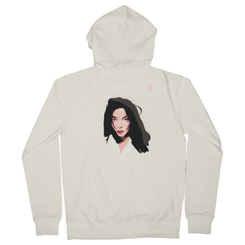Bjork Women's Zip-Up Hoody by Anna McKay's Artist Shop