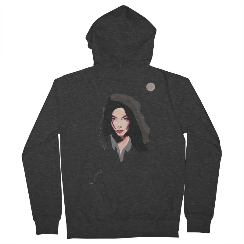 Bjork Men's Zip-Up Hoody by Anna McKay's Artist Shop