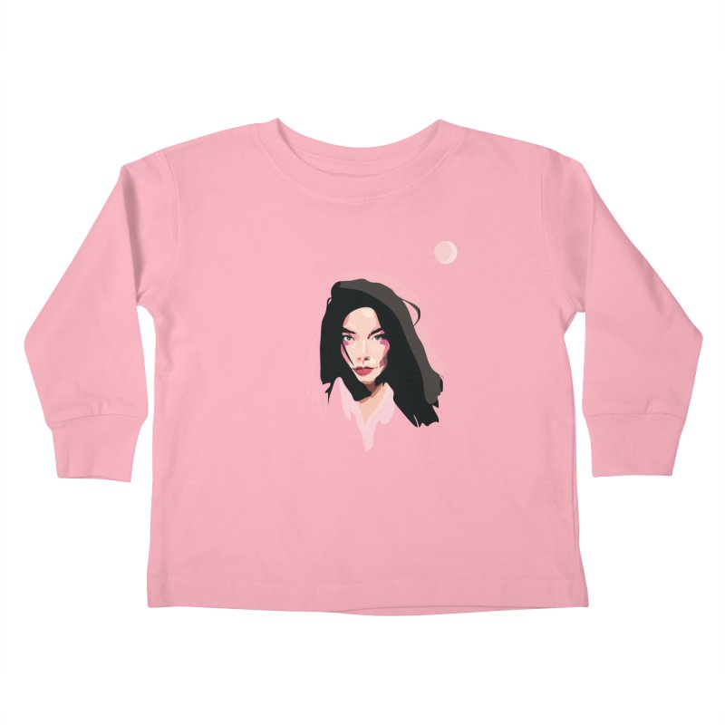 Bjork Kids Toddler Longsleeve T-Shirt by Anna McKay's Artist Shop