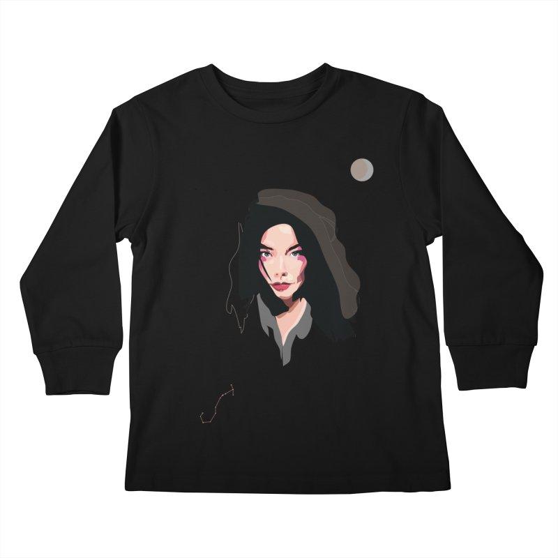 Bjork Kids Longsleeve T-Shirt by Anna McKay's Artist Shop