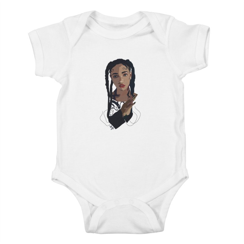 FKA Twigs Kids Baby Bodysuit by Anna McKay's Artist Shop