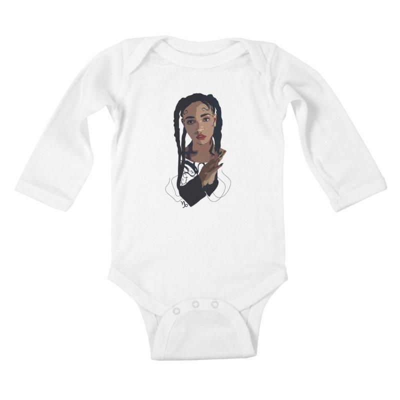 FKA Twigs Kids Baby Longsleeve Bodysuit by Anna McKay's Artist Shop