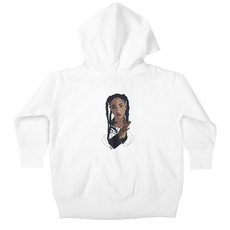 FKA Twigs Kids Baby Zip-Up Hoody by Anna McKay's Artist Shop