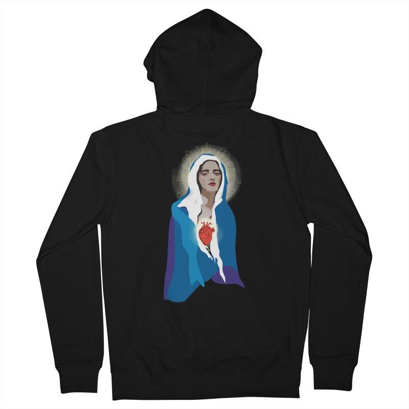 Virgin of Guadalupe Men's Zip-Up Hoody by Anna McKay's Artist Shop