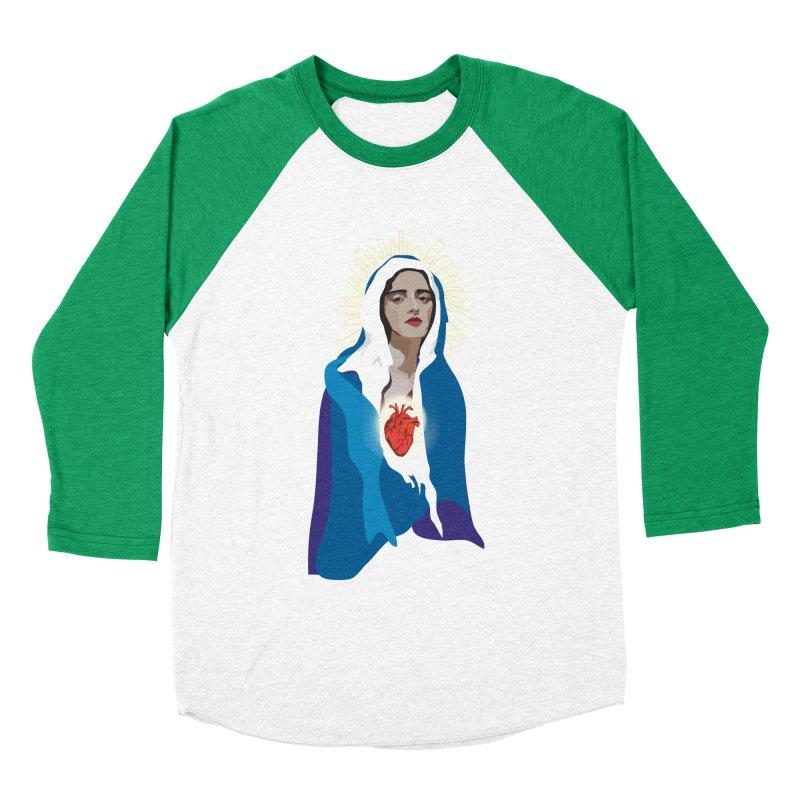 Virgin of Guadalupe Women's Baseball Triblend T-Shirt by Anna McKay's Artist Shop
