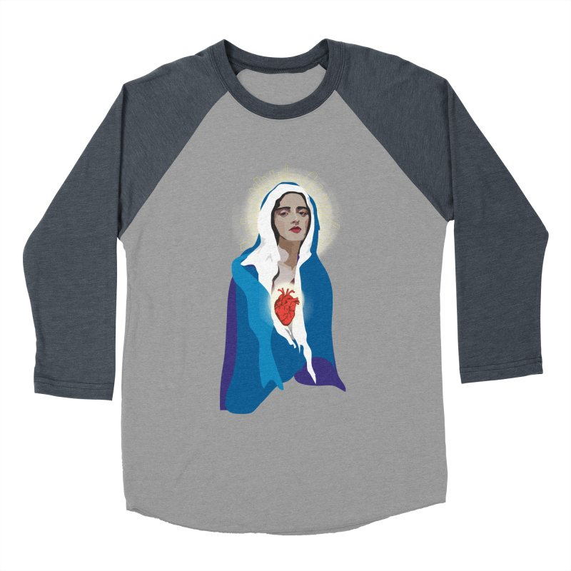 Virgin of Guadalupe Women's Baseball Triblend T-Shirt by Anna McKay's Artist Shop
